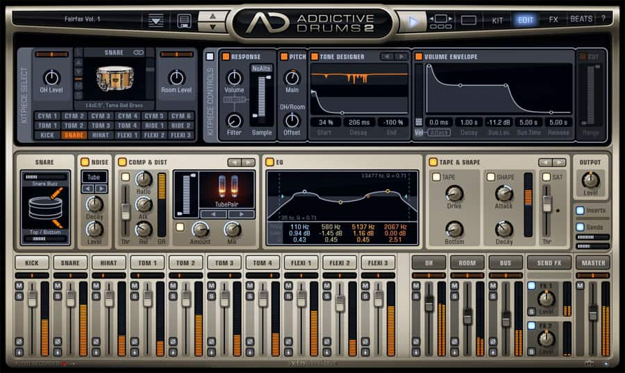 addictive drums 2 xls audio aff