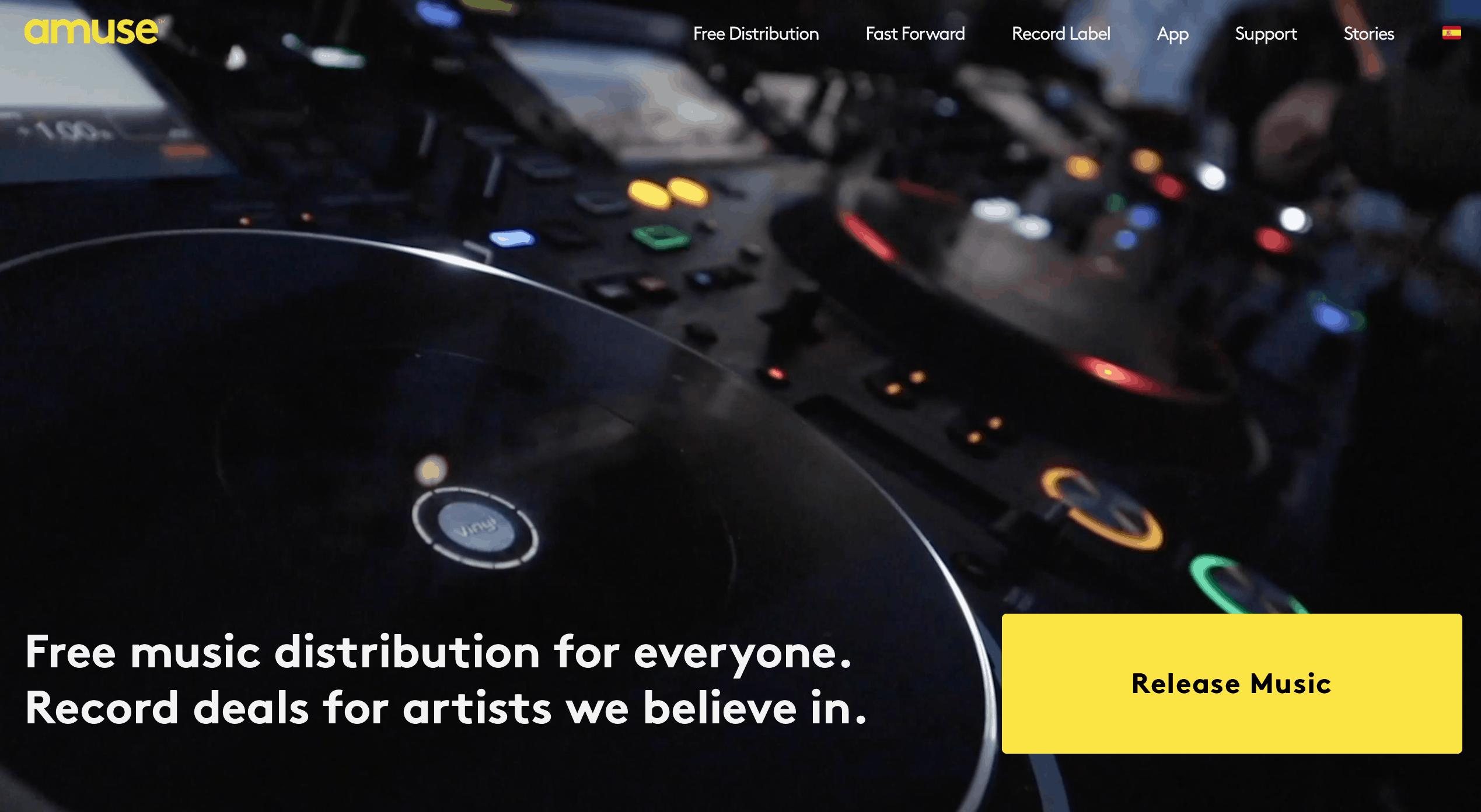 Amuse io music distribution